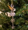 "6"" Clear Acrylic Angel Christmas Ornament"