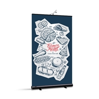 "BrandStand 2 Rollup 47.2"" (Black) Rollup Retractable Stand"