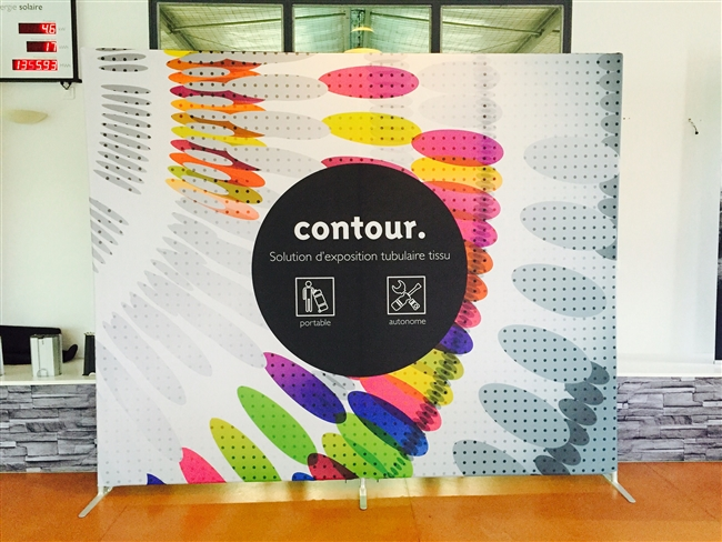 Contour 10' x 8' with dye graphics and hardware
