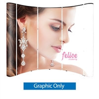 Wave 8 Ft. Pop Up Display - Graphics - Laminated Graphic Only (5 Graphic Panels)