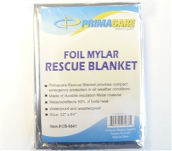 22971 Mylar Silver Emergency Blanket
