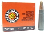 Red Army Standard 7.62x39 FMJ Ammunition Box of 20