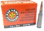 Red Army Standard 5.45 x 39 FMJ Ammunition Box of 30
