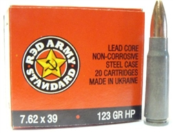 Red Army Standard 7.62 x 39 HP Ammunition Box of 20