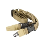 27096  Two or One Point Heavy Duty Bungee Rifle Sling  <font color='green'>Green</font> ,or <font color='tan'>Tan</font>