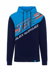 "The number 73 and the word ""Alex Marquez"" are printed on the front. On the back, printed on the hood, is the AM73 logo. ​Two comfortable pockets complete this official sweatshirt."