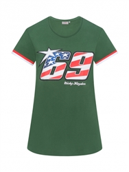 Nicky Hayden 69 logo womens t-shirt- green