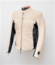 Top-grain, drum-dyed, abrasion-resistant cowhide, Multi-ply, UV-resistant nylon thread, Internal pockets for optional armor (sold separately), Cafe racer-positioned sleeves rotated 15 degrees forward at the shoulder, Dropped back for full coverage