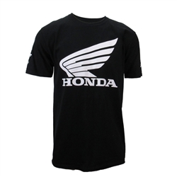 HONDA MENS BLACK SPONSOR WING TEE