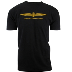 S/S GOLDWING TEE BLACK