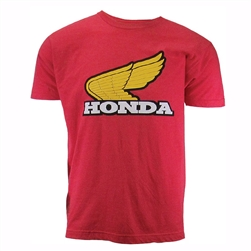HONDA GOLD RETRO WING TEE