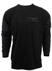 LONG SLEEVE GOLDWING BLACK TEE