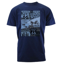 Short sleeve Honda Route 66 T-shirt