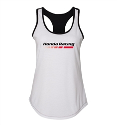 HONDA FINISH LINE LADIES TANK - WHT/BLK