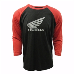 Unisex Honda Racing Baseball T-shirt