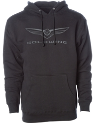 HONDA GOLDWING HOODED FLEECE PULLOVER- BLACK