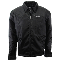 Nylon Black jacket with New Goldwing logo on the left chest only.
