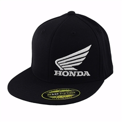 Corporate 3-D Honda Wing logo embroidery on the center front, MI small logo embroidery on the left side.
