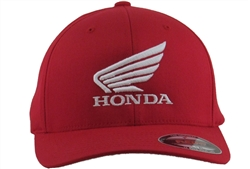 Corporate Honda Wing logo embroidery on the center front, MI small logo embroidery on the left side.