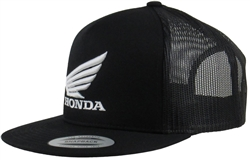 Honda Wing 3D embroidered white logo on the Front Center, Embroidered M1 Logo on the front Left Side Panel.