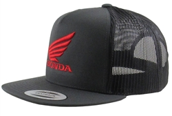 Honda Wing 3D embroidered red logo on the Front Center, Embroidered M1 Logo on the front Left Side Panel.