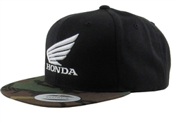 Honda 3-D Wing Embroidered Logo on The Front Center, Embroidered M1 Logo on the front Left Side Panel.