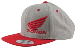 Heathered Two-tone Trucker Hat Honda 3-D Wing Embroidered Logo on The Front left side, Embroidered M1 Logo on the front Left Side Panel.