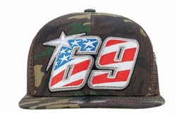 Nicky Hayden 69 Camo Trucker Hat