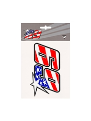 NICKY HAYDEN 69 STICKER - MEDIUM