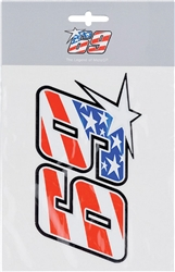 NICKY HAYDEN Race Number Sticker, American Flag print inside