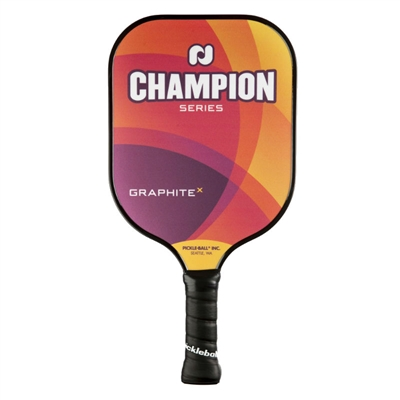 "Champion X Pickleball Paddle featuring ""Champion Series"" across the front. 2 color options available in either warm or cool tones."