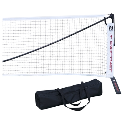 SwiftNet 2.0 Portable Pickleball Net - constructed from aluminum and recycled aerospace-grade carbon fiber creating a lightweight and durable net system.