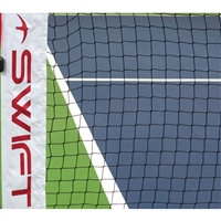 SwiftNet  - Replacement Pickleball Net is black accented by white trim and the SwiftNet logo.