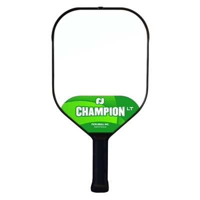 Champion LT Pickleball Paddle featuring a polypropylene core. A great starter paddle for new players.