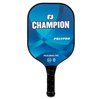 Champion PolyPro Pickleball Paddle featuring a polypropylene core and polycarbonate face. Available in blue,or purple.