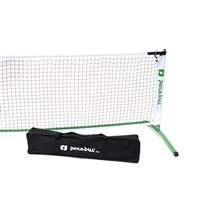 3.0 Pickleball Tournament Set - Frame & Net Only featuring black netting and white trim accented by the Pickleball, Inc. logo in green. Includes a matching green metal net frame.