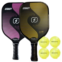 Legacy 2-Player Bundle includes two paddles and four balls.