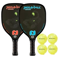 Venom2 2-Player Bundle includes two paddles and four balls.