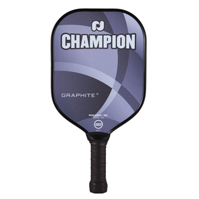 Champion X Pickleball Paddle featuring polypropylene core for soft play.