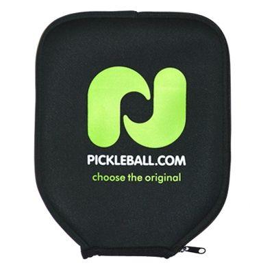 Our neoprene paddle cover features the Pickleball, Inc. logo across the front with side zipper.