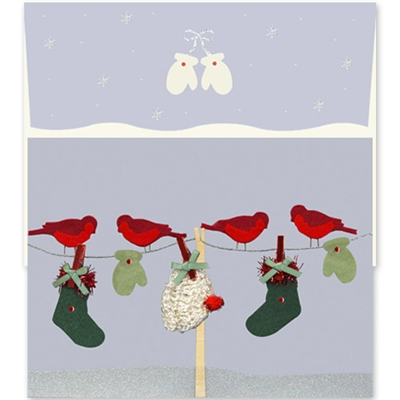 Clothesline with Birds