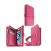 iLuv AI5JSTRPN Jstyle Runway full grain leather wallet case for iPhone 5/5S/SE