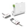 ILuv IAD730WHT Dual USB Wall Charger + Charge/sync Cable For iPad/iPhone/iPod