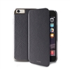 Puro Business Booklet Leather Case for iPhone 6 Plus W/Gun Frame & Card Slot Grey