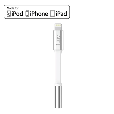 iLuv i116OSWH Lightning to 3.5 mm Headphone Jack Adapter