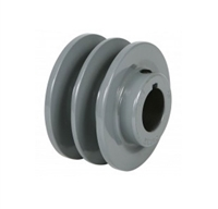 "2AK-20 5/8"" Bore Solid Sheave Pulley with 2"" OD , Hex set screws 2 grooves  for V-belts size 4L, 3L  2AK  (OD 2""- ID 5/8"")"