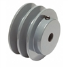 "2AK-22 1/2"" Bore Solid Sheave Pulley with 2.2"" OD , Hex set screws 2 grooves  for V-belts size 4L, 3L  2AK  (OD 22""- ID 1/2"")"