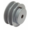 "2AK34 1/2"" Bore Solid Sheave Pulley with 3.4"" OD , 2 Grooves  Hex set screws for V-belts size 4L, 3L  2AK34-1/2""  (OD 3.4""- ID  1/2"")"