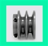 "2BK-23 1/2"" Bore Solid Sheave Pulley with 2"" OD , Hex set screws for V-belts size 4L, 5L 2BK20-1/2"""