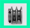 "2BK-20 5/8"" Bore Solid Sheave Pulley with 2"" OD , Hex set screws for V-belts size 4L, 5L 2BK20-5/8"""